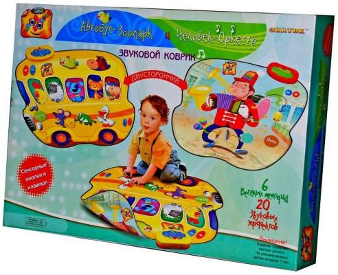Купить Звуковой коврик Знаток Автобус-Зоопарк и Человек-Оркестр SLW9821, разноцветный, Музыкальные коврики