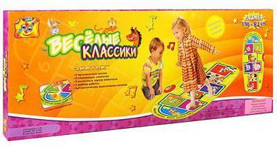 Купить Звуковой коврик Знаток Веселые классики, разноцветный, Музыкальные коврики