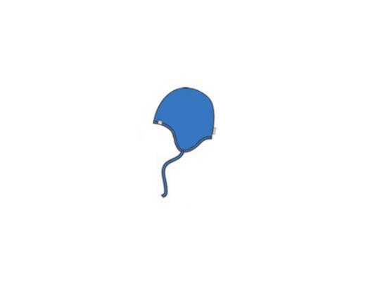 Вязаная шапка Huppa Ian XS 8385AW00-035 синяя цена 2017