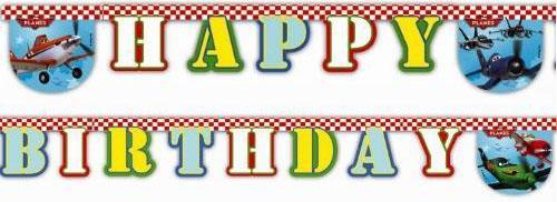 Гирлянда-буквы Procos Самолеты Happy Birthday 1 шт 26072013 procos свечи буквы принцессы disney сказочный мир happy birthday
