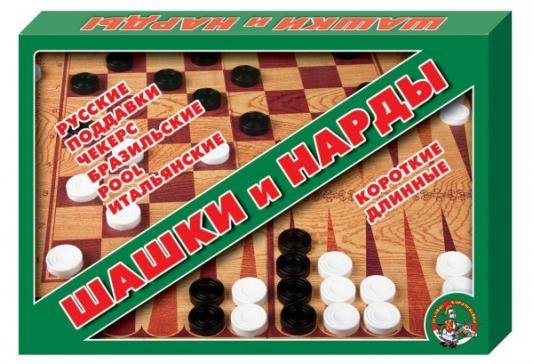 Настольная игра Десятое королевство семейная Шашки - нарды 01069 десятое королевство настольная игра шашки шахматы нарды десятое королевство