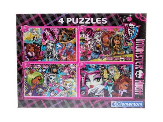 Пазл Clementoni Monster High (4 в 1) 180 элементов 08301 пазл monster high портреты фриков 250 элементов 29682