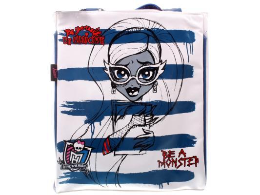 Сумка Monster High Be a Monster пляжная 1363 белый синий рисунок от 123.ru