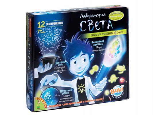 Игровой набор Bondibon Французские опыты Науки с Буки Лаборатория света (12 экспериментов) BB47454
