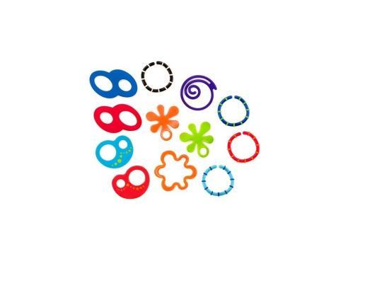 Набор прорезывателей Oball Забавные колечки разноцветный с 3 месяцев 81506 oball игрушечный трек