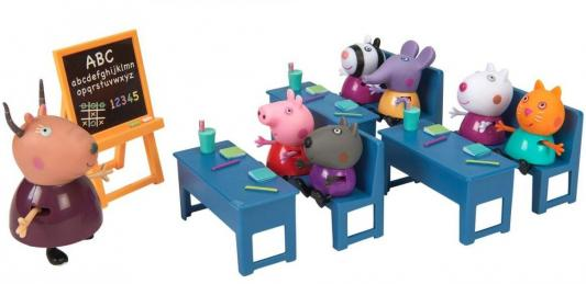 Игровой набор Peppa Pig Идем в школу от 3 лет 10 предметов 20827 набор игровой peppa pig 10 см