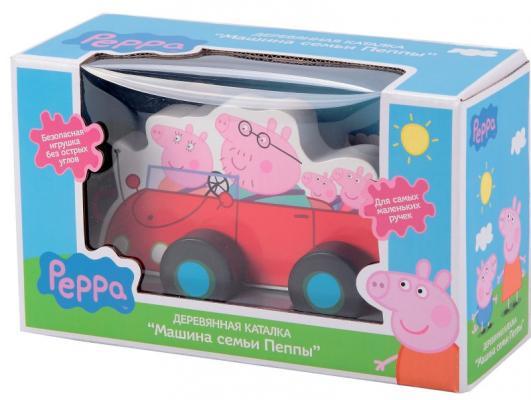 Каталка-машинка Peppa Pig семья Пеппы от 1 года дерево 24442 peppa pig playing football