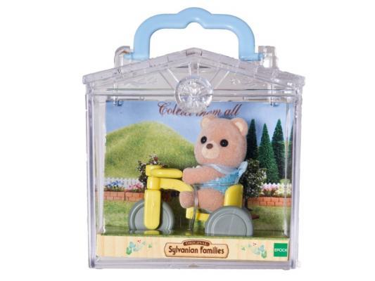 Игровой набор Sylvanian Families Младенец в пластиковом сундучке Мишка на велосипеде 2 предмета 3340