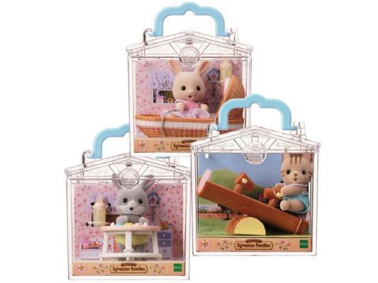 Игровой набор Sylvanian Families Младенец в пластиковом сундучке Зайка в люльке от 3 лет 2 предмета 3380