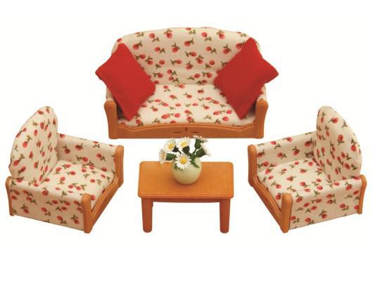 Игровой набор Sylvanian Families Мягкая мебель для гостиной 7 предметов 2922