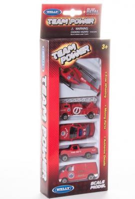 Игровой набор Welly Пожарная команда красный 5 шт 97506G(B)