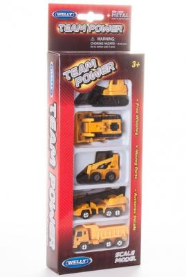 Игровой набор Welly Строительная бригада желтый 5 шт 97506G(R)