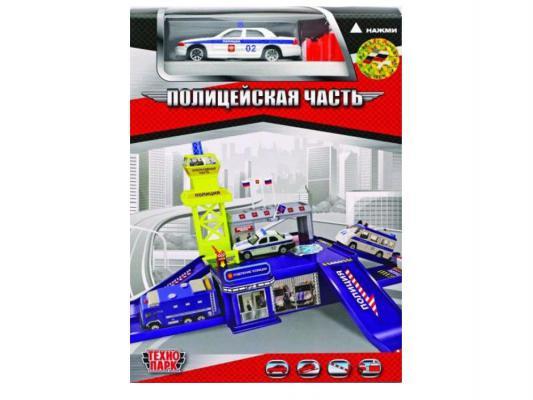Купить Игровой набор Технопарк Полицейская дежурная часть с машиной и пусковой установкой синий 1 шт 30 см 28516