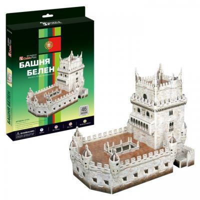 Пазл 3D CubicFun Башня Белен (Португалия) 46 элементов cubicfun 3d пазл эйфелева башня 2 франция cubicfun 33 детали