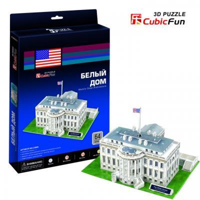 Пазл 3D CubicFun Белый дом (США) 64 элемента