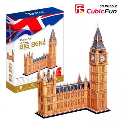 Пазл 3D CubicFun Биг Бен (Великобритания) 117 элементов MC087H