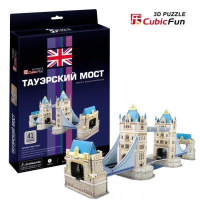 Пазл 3D CubicFun Таэурский мост (Великобритания) 41 элемент C702H