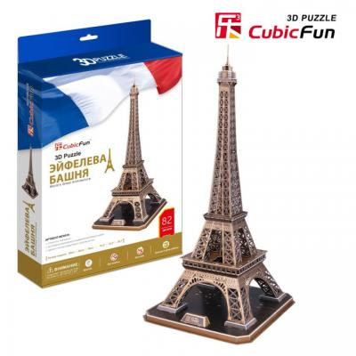 Пазл 3D CubicFun Эйфелева Башня 82 элемента