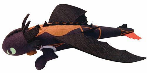 Мягкая игрушка Dragons Беззубик плюшевый (запускается и летит) от 4 лет 66592