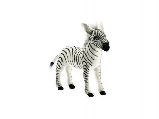 Мягкая игрушка зебра Hansa Зебра плюш синтепон черный белый 41 см