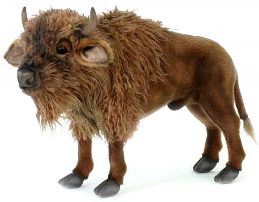 Мягкая игрушка зубр Hansa Зубр плюш коричневый 52 см
