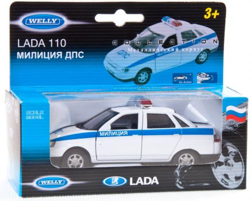Автомобиль Welly LADA 110 Милиция ДПС 1:34-39 белый