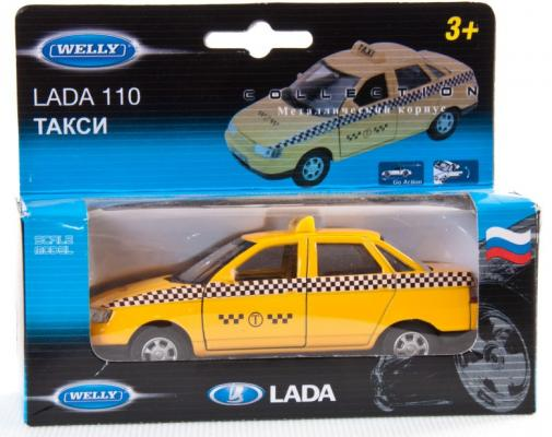 Автомобиль Welly LADA 110 Такси 1:34-39 желтый