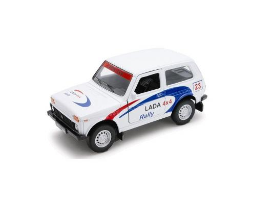 Автомобиль Welly LADA 4x4 Rally 1:34-39 белый автомобиль welly lada kalina rally 1 34 39 белый 42383ry