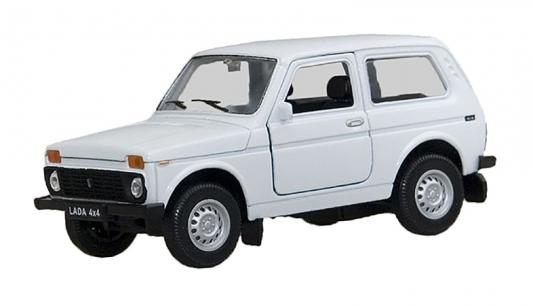 Автомобиль Welly LADA 4x4 1:34-39 белый 42386 автомобиль welly nissan gtr 1 34 39 белый