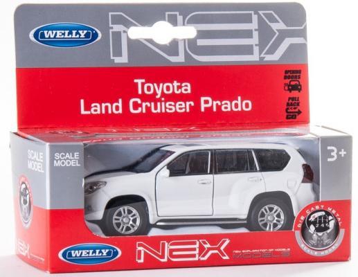 Автомобиль Welly Toyota Land Cruiser Prado 1:34-39 цвет в ассортименте автомобиль подержанный в москве land cruiser 70