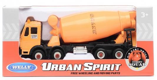 Бетономешалка Welly 99613 1:60 оранжевый бетономешалка пламенный мотор 1 32 бетономешалка строй транс 20 см оранжевый