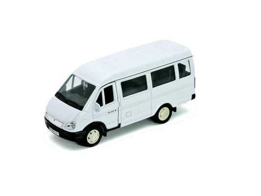 Автомобиль Welly ГАЗель фургон с окном 1:34-39 белый