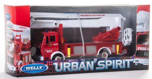 Пожарная машина Welly 99623 1:60 красный пожарная машина welly 99623 1 60 красный