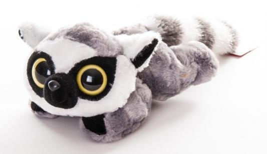 Мягкая игрушка Aurora Юху и друзья Лемур Лемми лежачий плюш серый 23 см