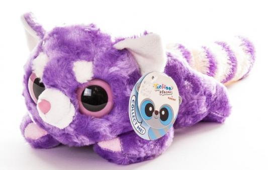Мягкая игрушка Aurora Юху и друзья Малая Панда лежачая плюш фиолетовый 23 см