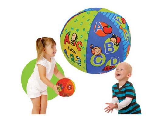 Интерактивная игрушка Ks Kids Обучающий говорящий мяч от 1 года разноцветный КА10621 интерактивная игрушка ks kids девочка julia для купания от 1 года белый ка10419