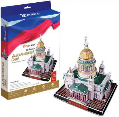 Пазл 3D CubicFun Исаакиевский собор (Россия) 105 элементов MC122H cubicfun петропавловский собор