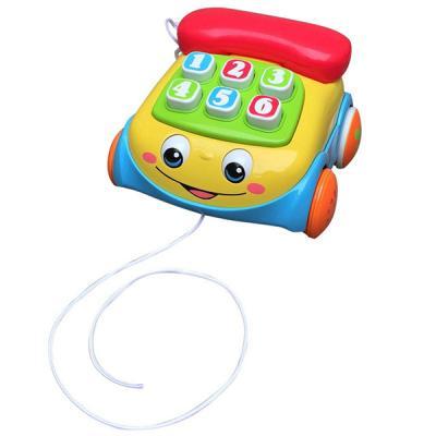 Каталка на шнурке Playgo Телефон разноцветный от 1 года пластик каталка playgo play 1765 пластик от 1 года на колесах разноцветный