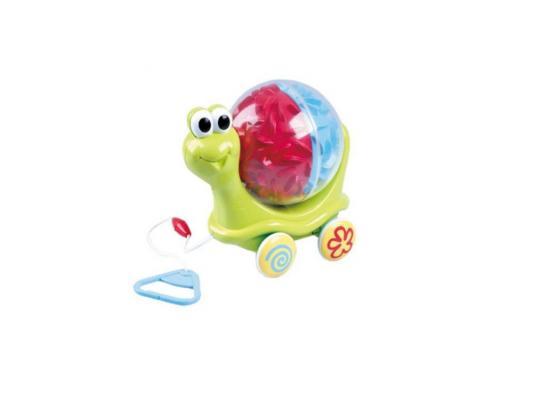 Каталка на шнурке Playgo Улитка зеленый от 1 года пластик каталка playgo play 1765 пластик от 1 года на колесах разноцветный