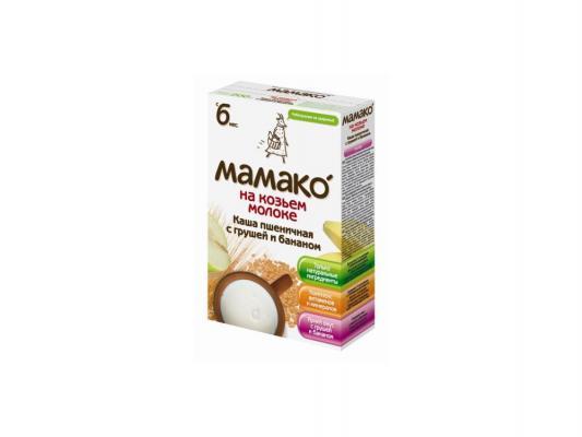 Каша Мамако Пшеничная с грушей и бананом на козьем молоке с 6-ти месяцев 200 гр - МАМАКОДетские каши<br>Бренд: МАМАКО, Возраст: с 6 месяцев, Состав: пшеница, Содержание молока: с молоком, Содержание сахара: без сахара, Содержание глютена: с глютеном<br>