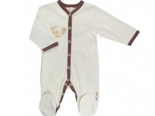 Комбинезон Lucky Child ангелочки, молочный. размер 18 (56-62) арт.17-1