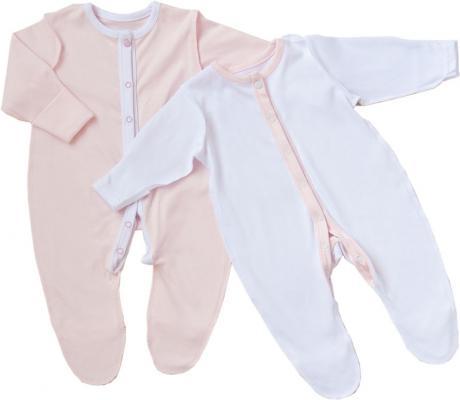 Комплект комбинезонов-слипов New me Розовый и белый 64 см. 2 шт размер 2 КС-013
