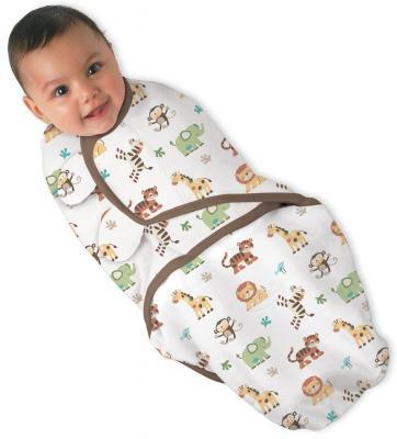 Конверт для пеленания на липучке размер S/M Summer Infant Swaddleme (джунгли)