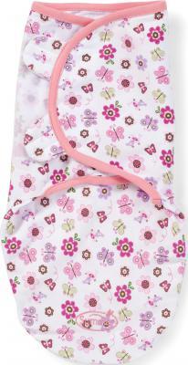 Конверт для пеленания на липучке размер S/M Summer Infant Swaddleme (цветы/бабочки) 71475