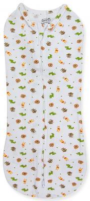 Конверт для пеленания на молнии размер S Summer Infant Swaddlepod (белый с животными) 70010 от 123.ru
