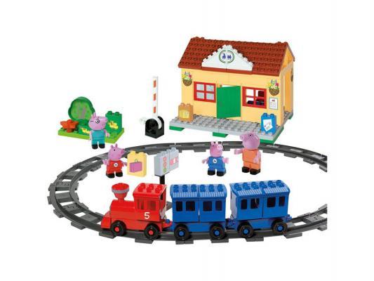 Конструктор Big Peppa Pig: Железнодорожная станция 95 элементов от 3 лет 57079