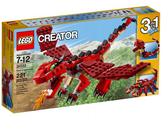 Конструктор Lego Огнедышащий дракон 221 элемент 31032