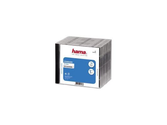 Коробка HAMA для 1 CD черно-прозрачный 10шт H-44746