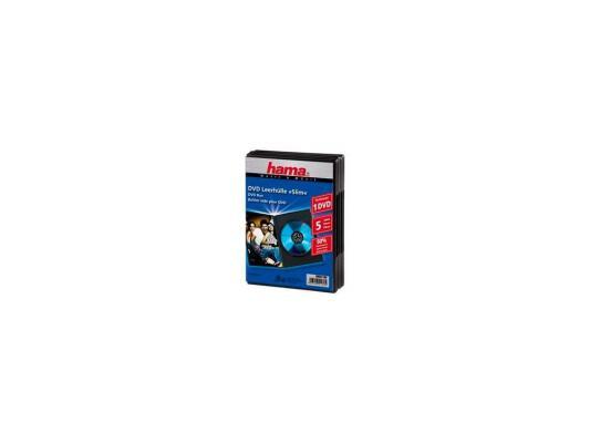 Коробка HAMA для DVD черный 5шт H-51180 коробка hama для 2 cd прозрачный 5шт h 44752