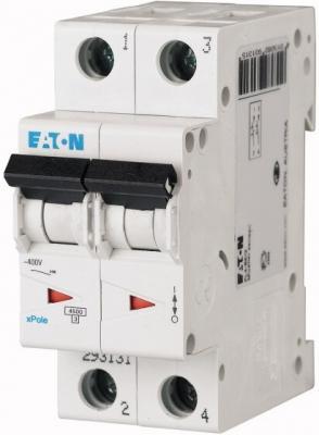 Автоматический выключатель Eaton/Moeller PL4-C63/2 4.5кА двухполюсный 63А 293148